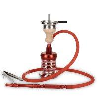 CRT - Alu Shisha Moscito MALARIA mit Tasche - Rot / Rot...
