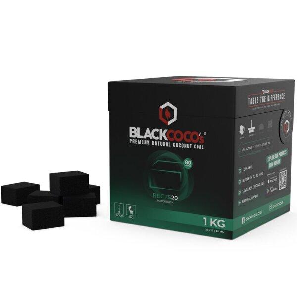 BLACKCOCO's - RECTS20 - 1 KG Premium Shisha Kohle Naturkohle