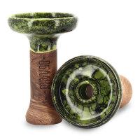 Oblako - Tonkopf PHUNNEL L - Glazed Marble Green / Black