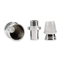 Caesar - Adapter für Molassefänger Säule 18/8 - Chrom 3teilig